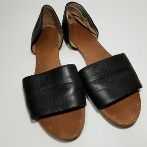 Madewell • black leather d'orsay sandals
